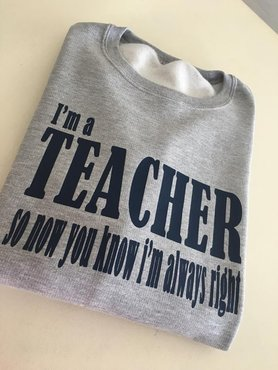 sweater teacher